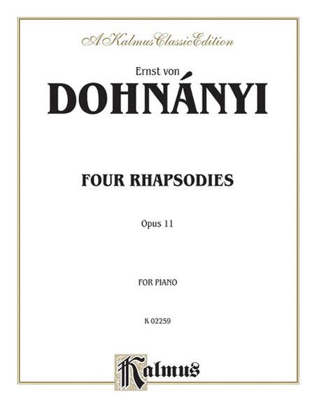 4 Rhapsodies, Op. 11