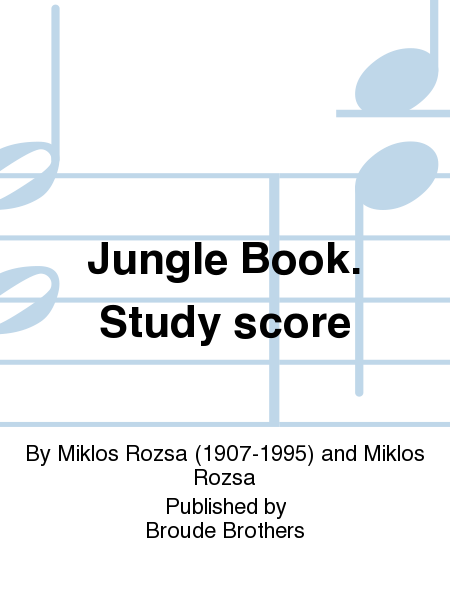 Jungle Book. Study score