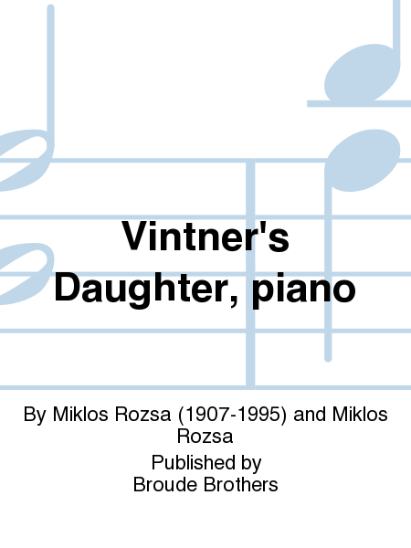 Vintner's Daughter, piano