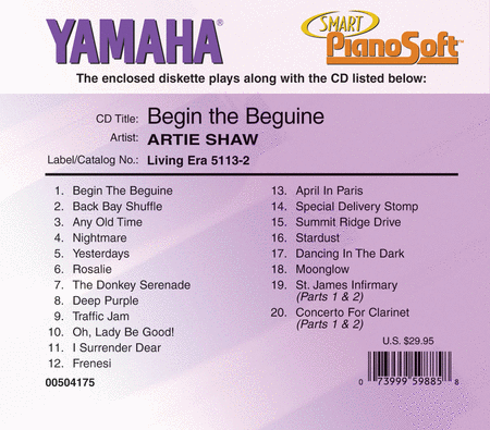 Artie Shaw - Begin the Beguine - Piano Software