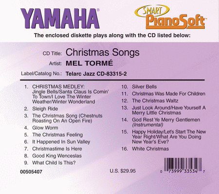 Mel Torme - Christmas Songs - Piano Software
