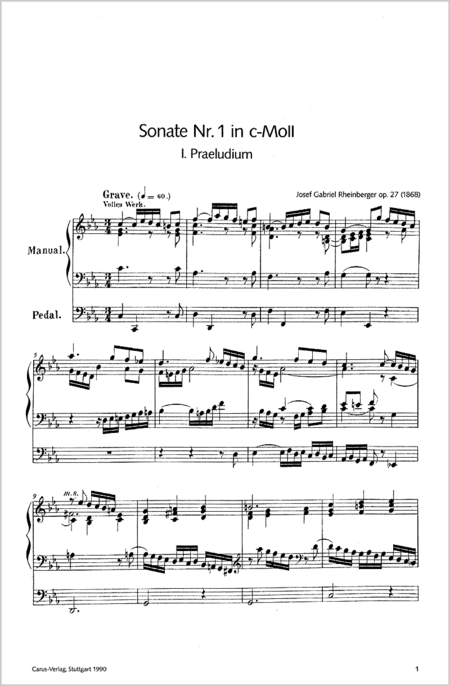 Organ Sonatas 1-10 (vol. 38)