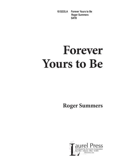 Forever Yours to Be