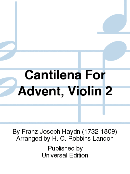 Cantilena For Advent, Violin 2
