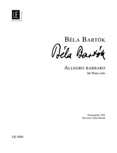 Allegro Barbaro, Piano
