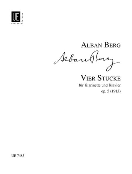 Pieces, 4, Op. 5, Clar/Piano