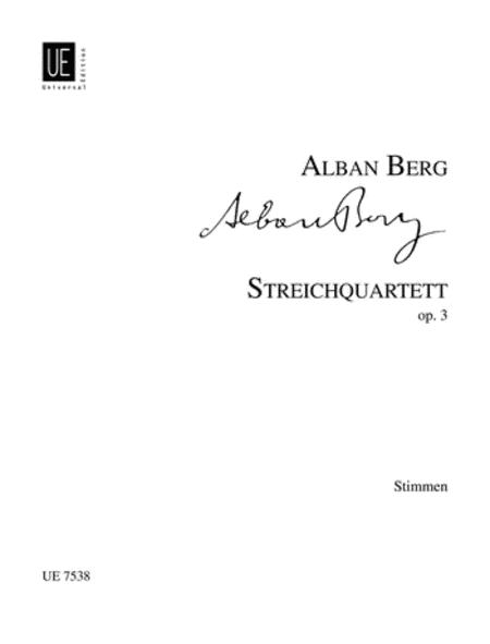 String Quartet, Op. 3, Parts