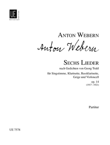 Lieder, 6, Op. 14, F.S./Vocal