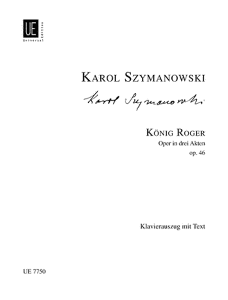 King Roger, Op. 46, Vocal Score