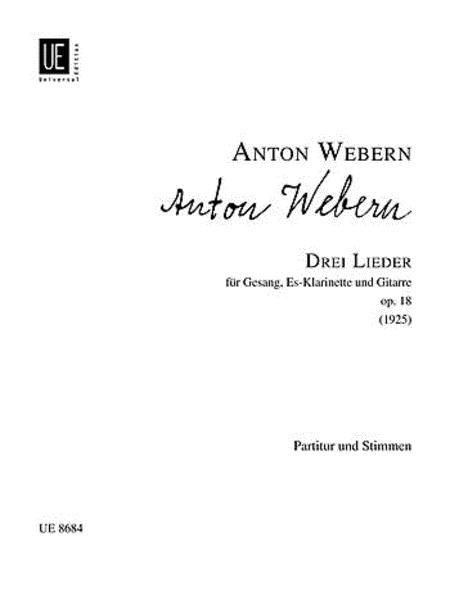 Lieder, 3, Op. 18, Perf. Score
