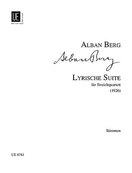 Lyric Suite, String Quartet, P