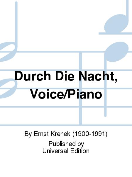 Durch Die Nacht, Voice/Piano