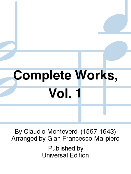 Complete Works, Vol. 1