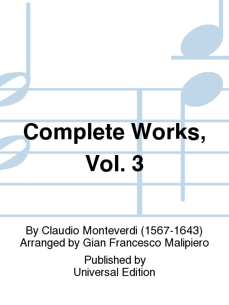 Complete Works, Vol. 3