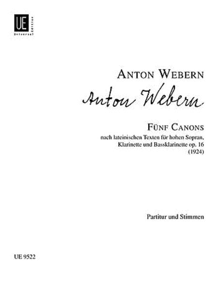 Canons, 5, Op. 16