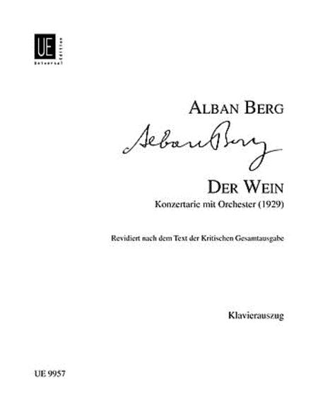 Der Wein, Soprano/Piano Reduc.