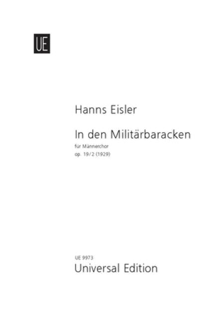 In Den Militarbaracken, Op. 19
