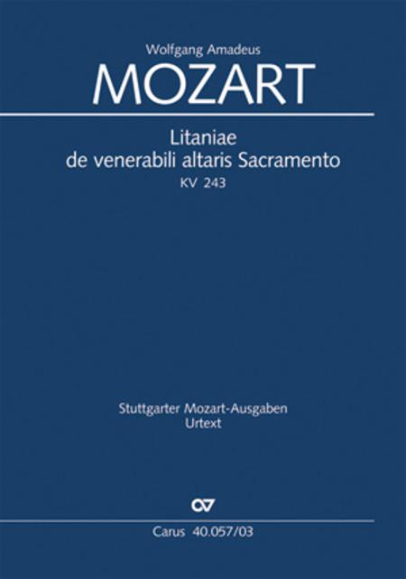 Litaniae de venerabili altaris Sacramento in Es