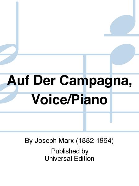 Auf Der Campagna, Voice/Piano