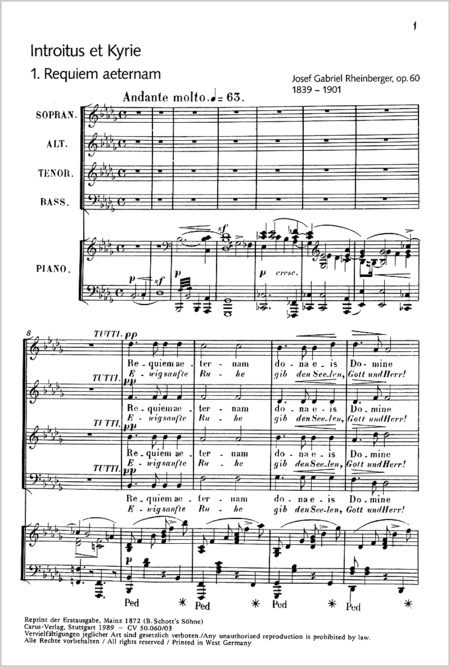 Requiem in B flat minor