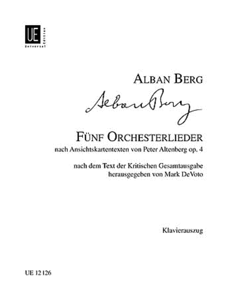 Altenberg Lieder, Op. 4 Vocal