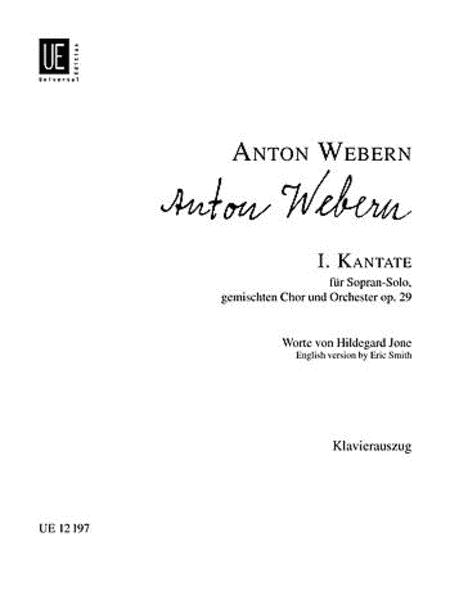 Cantata 1, Op. 29, Vocal Score
