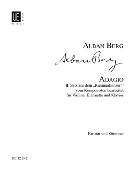 Adagio, Violin/Clar/Piano