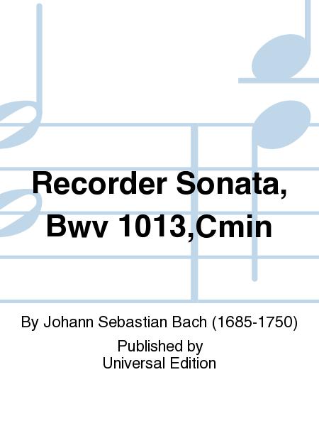 Recorder Sonata, Bwv 1013,Cmin