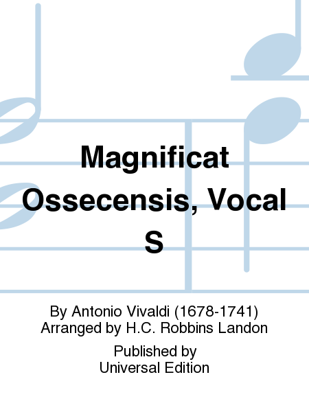 Magnificat Ossecensis, Vocal S