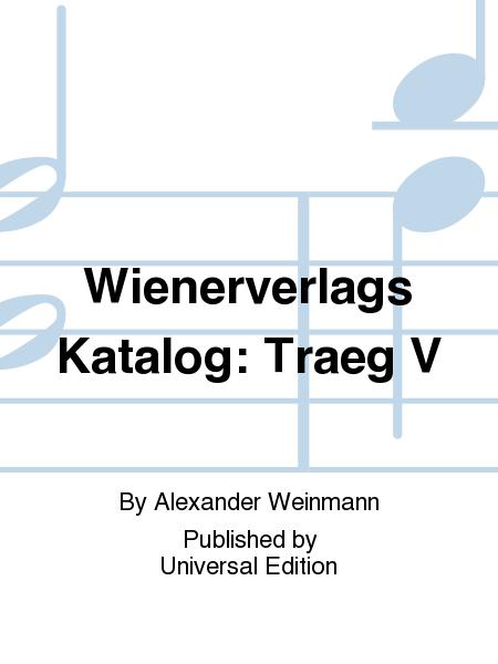Wienerverlags Katalog: Traeg V