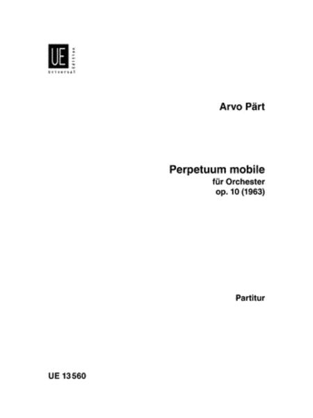 Perpetuum Mobile, Full Score