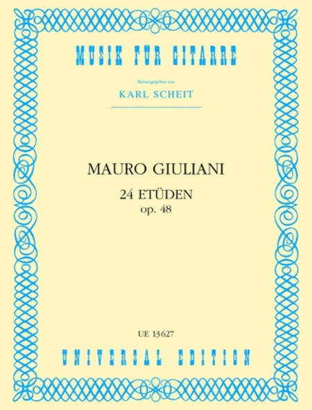 Etudes, 24, Op. 48, Guitar (Sc