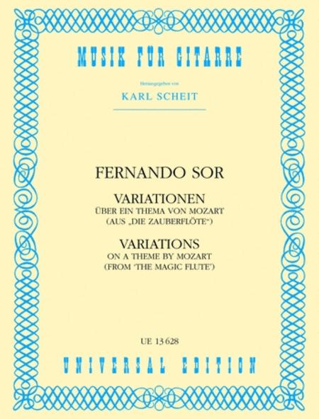 Variations, Mozart, Op. 9, Guitar