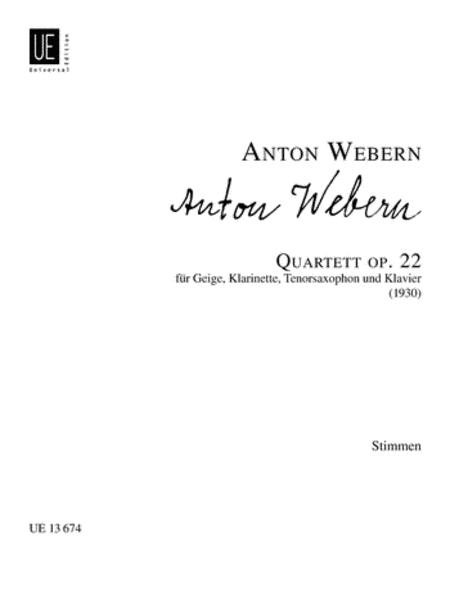 Quartet, Op. 22, Parts