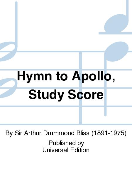 Hymn To Apollo, Study Score