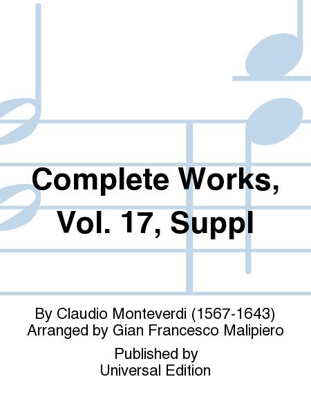Complete Works, Vol. 17, Suppl