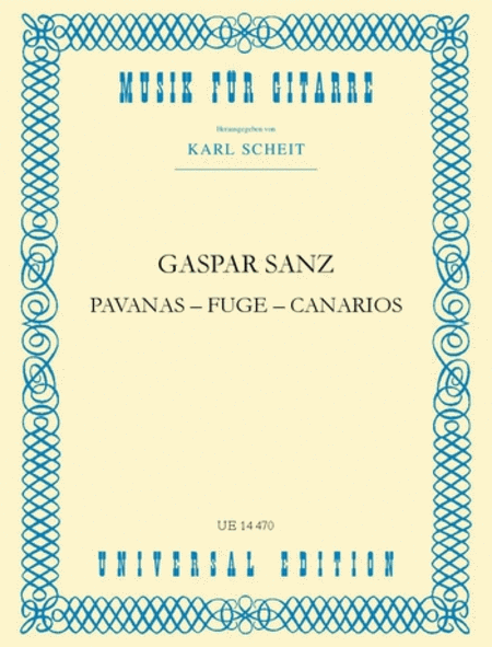Pavanas, Fuge, Canarios (Schei