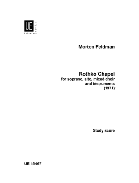 Rothko Chapel, Study Score