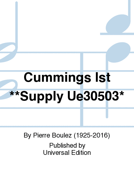 Cummings Ist **Supply Ue30503*