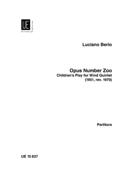 Opus Number Zoo, Woodwind Quintet Score