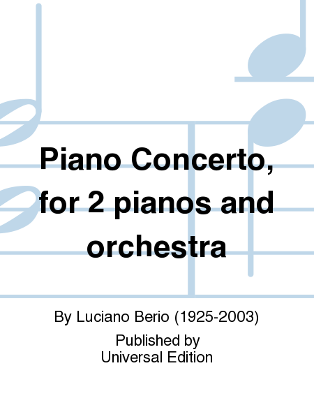 Piano Concerto, for 2 pianos and orchestra