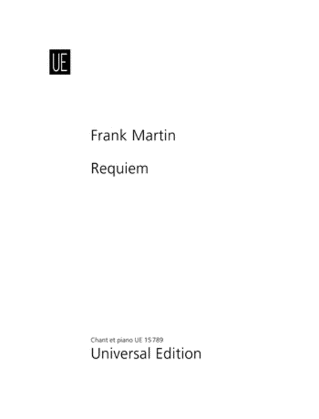 Requiem, Vocal Score