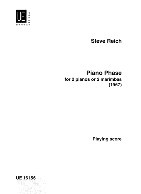 Piano Phase for 2 pianos or 2 marimbas