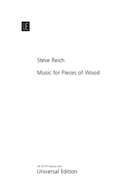 Music for Pieces of Wood, 5 Claves