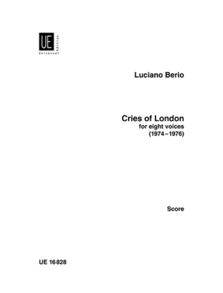 Cries of London, 8 Voices