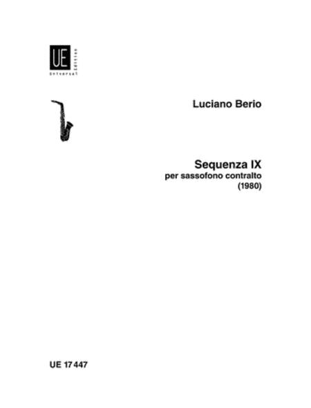 Sequenza 9b, Solo Alto Saxopho