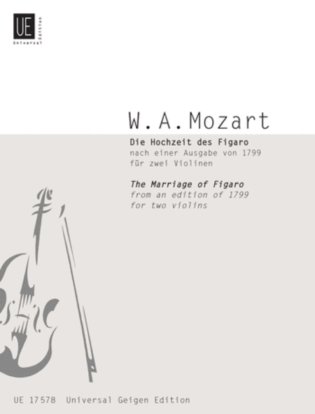 Marriage of Figaro, 2 Violins