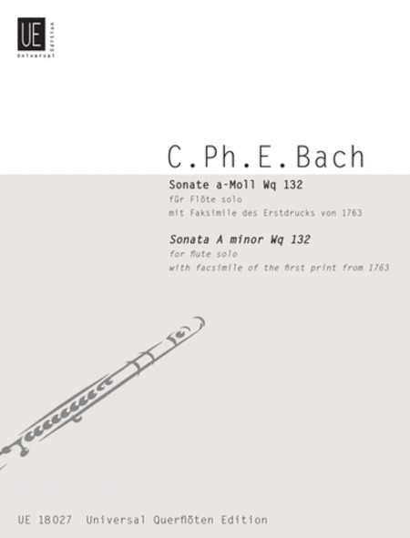 Flute Sonata, Wq. 132, A Minor