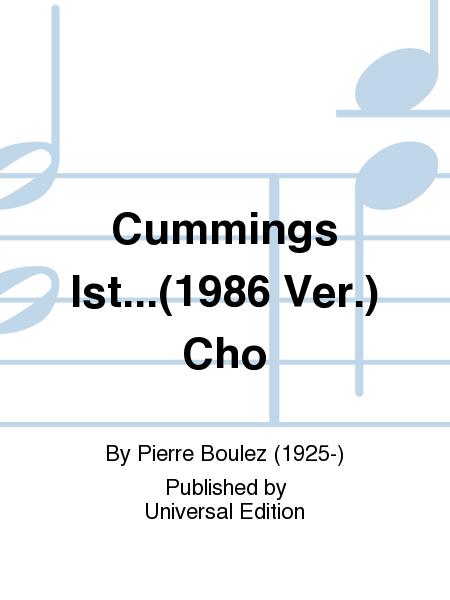 Cummings Ist...(1986 Ver.) Cho