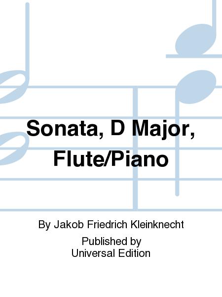 Sonata, D Major, Flute/Piano